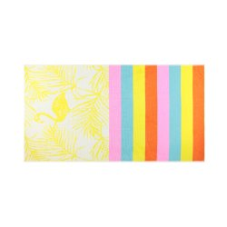 Yarn Dyed Floral Design Velour Jacquard Towels