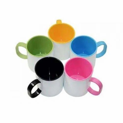 Double Colour Polymer Unbreakable Coffee Mug Size 11 Oz