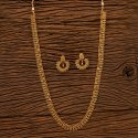 Antique Long Necklace Set With Gold Plating 200686, Size: Length = 20 Inch