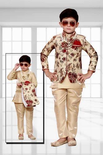 Kids Boys Kurta Pajama With Waistcoat