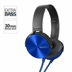 Wired Ios,Andorid & Windows Extra Bass MDR-XB450AP On-Ear Headphones with Mic, 400 Gram