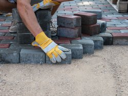 concrete Paver Block Flooring Services, For Outdoor, Anti-Skidding