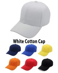 White Cotton Cap