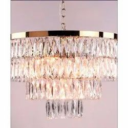 Glass Decorative Round Crystal Chandelier