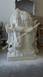 White Marble Radha Krishna Moorti