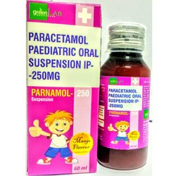Parnamol Paracetamol Paediatric 250mg Oral Suspension IP, Packaging Type: Bottle