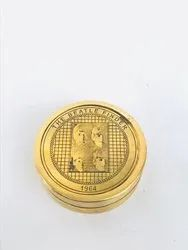 The Beatle Finder (1964) Brass Pocket Compass With Sunny Day Poem for Ship, Size/Diameter: 2 Inches