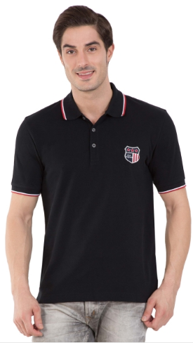 f3afddb8 Jockey Black Polo T-shirt at Rs 799 | Gents Polo T Shirt ...