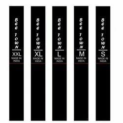 Black Satin Garments Label