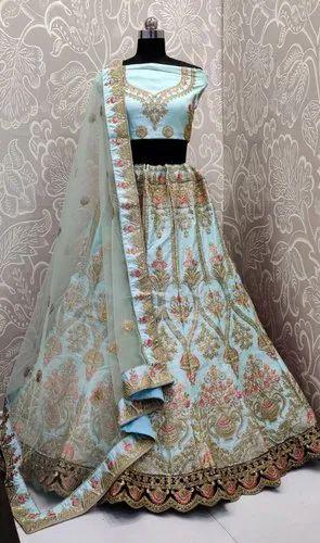Silk Lehenga Choli with Net Dupatta