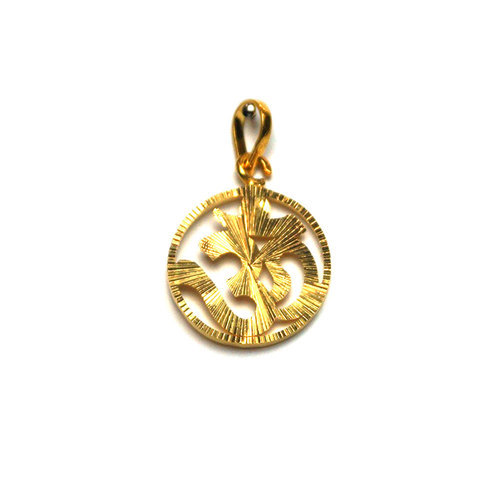 Om gold pendant view specifications details of gold pendant by om gold pendant aloadofball Image collections