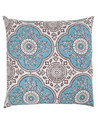Cotton Green Floral Block Printed Decorative Cushion Cover
