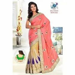 Fancy Designer Embroidered Sarees
