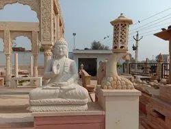 White Sandstone Buddha Statue