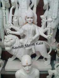 Marble Shera Wali Mata Statue