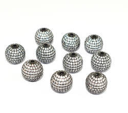 Pave Round CZ Ball Beads
