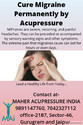 Acupressure Treatment For Migraine