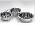 Stainless Steel Double Pet Bowl For Clinic Purpose Use