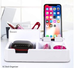 Silver Crest Desk Organiser With 3 USB Ports