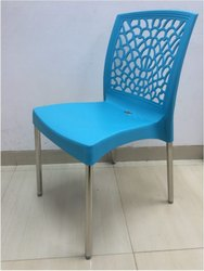 Blue Nilkamal Cafe Chairs for Restaurant, Warranty: 6 Months