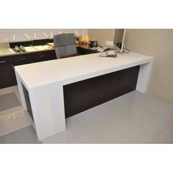 White Acrylic Solid Surface Table