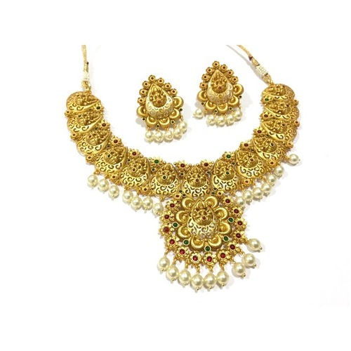 Antique Laxmi Necklace Set of 3