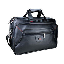 Angad Personalized Gift Shop Black Leather Office Bag