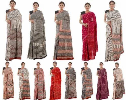 Cotton Saree Bagru Print Saree