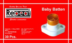Plastic White Baby Batten Holder for Electrical Fitting
