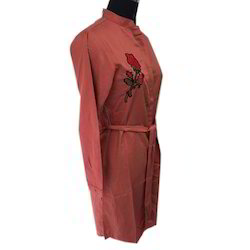 Ladies Embroidery Flower Tunic