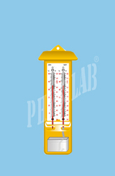 Physilab Yellow Wet & Dry Thermometer for Laboratory