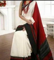 Cotton Block Print Malmal Saree
