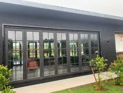 Brown UPVC Sliding & Folding Door, For Home, Size/Dimension: 3000 X 2400