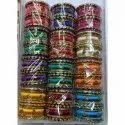 Multicolor Silk Thread Colored Thread Bangle Set, Round