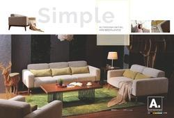 Solid Sheesham Wood Modern 305 Sofa And J 110 Coffee Table, For Restaurant, Living Room