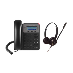 Black Grand Stream IP Phone Headset