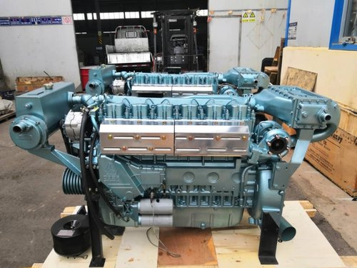 SINOTRUK 280 Hp 2100 RPM Marine Engine, Multi Cylinder, Kw, Rs 870000 /set  | ID: 3425326688