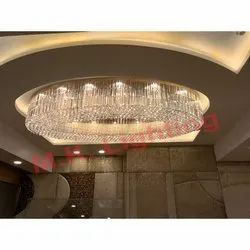 Oval Shape Crystal Chandelier