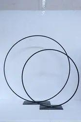 Iron Circle Table Decoration