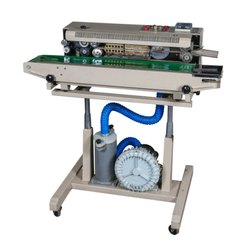 Automatic Stainless Steal Nitrogen Flushing Continuous Band Sealer Machine, Capacity: 0-500 Pouch Per Hour, Horizontal