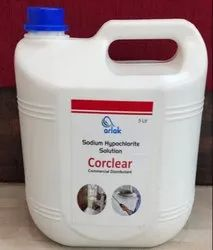 Sodium Hypochlorite Solution 4% Commercial Disinfectant 5 Ltr (Corclear)