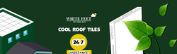 White Lime Cool Roof Tiles White Feet