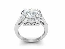 925 Sterling Silver Solitaire Princess Wedding Ring