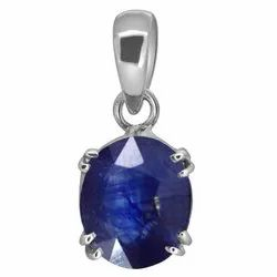Blue Sapphire Pendent Silver 916 Purity Gemstone