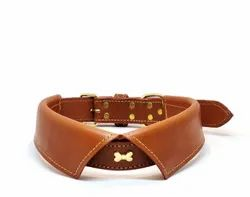 Genuine Leather Tan Dog Collar