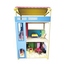 Kids Wooden Complete Doll House