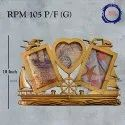 Plastic Golden Ship Photo Frame, Size: 10 Inch