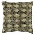 Embroiderered Square Cushion Cover