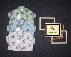 White Light-blue Light-Green Men Print full sleev shirt
