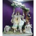 special beautiful marble radha krishna sculpture